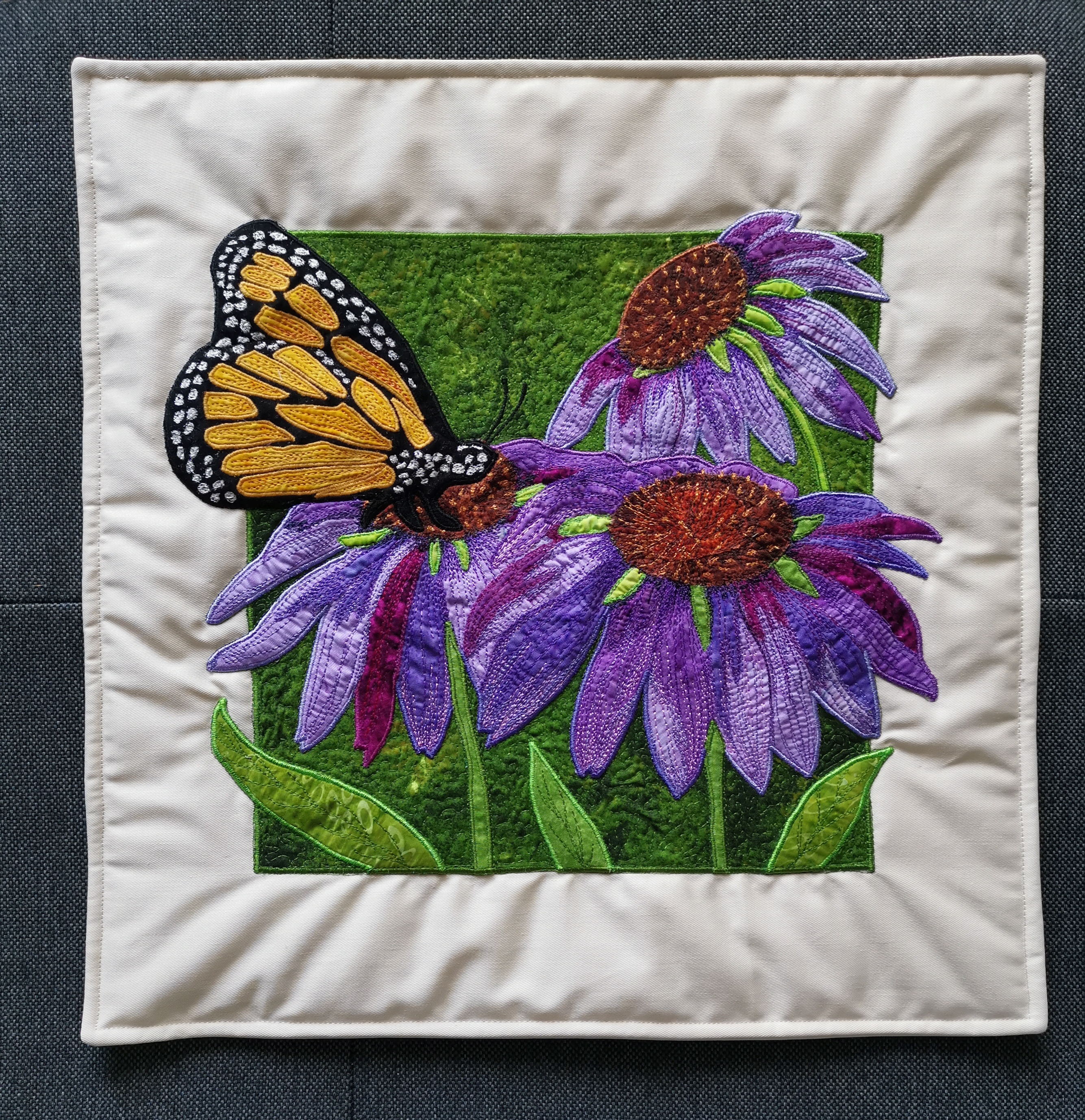 Echinacea Pillow - Bluish