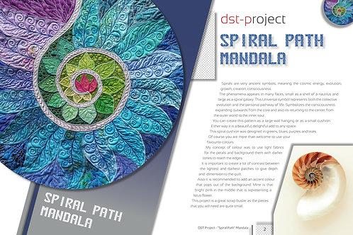 """Spiral Path Mandala"" Pillow / DST-pattern"
