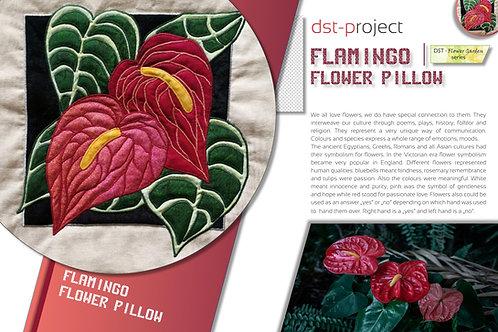 """Flamingo Flower"" Pillow / DST-pattern"
