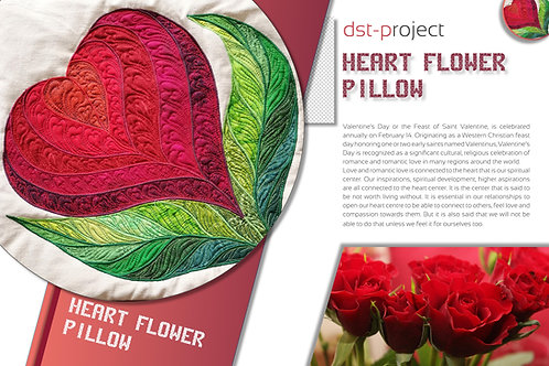 """Heart Flower"" Pillow / DST-pattern"