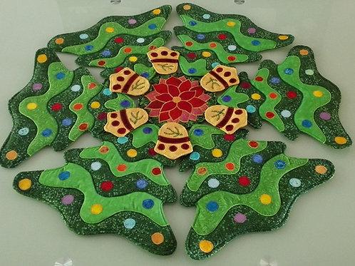 Mandala Table Sets - Christmas Tree
