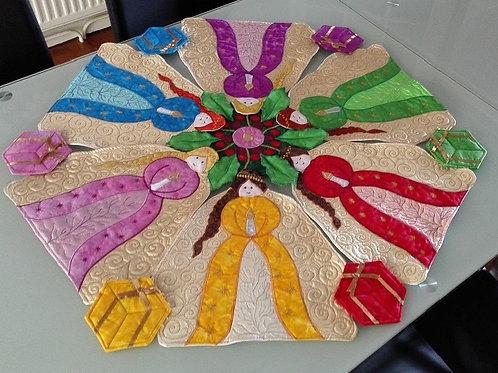 Mandala Table Sets - Christmas Angels