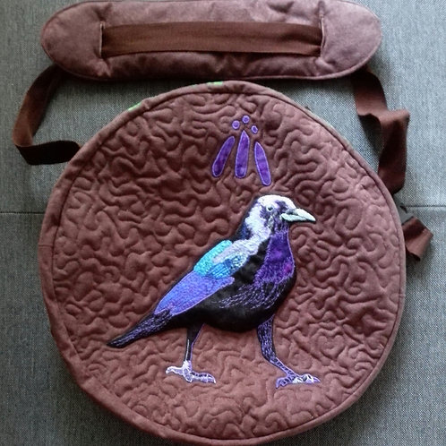 Shamanic Drum Bag with Raven
