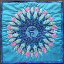 5th Throat Chakra Mandala Pillow