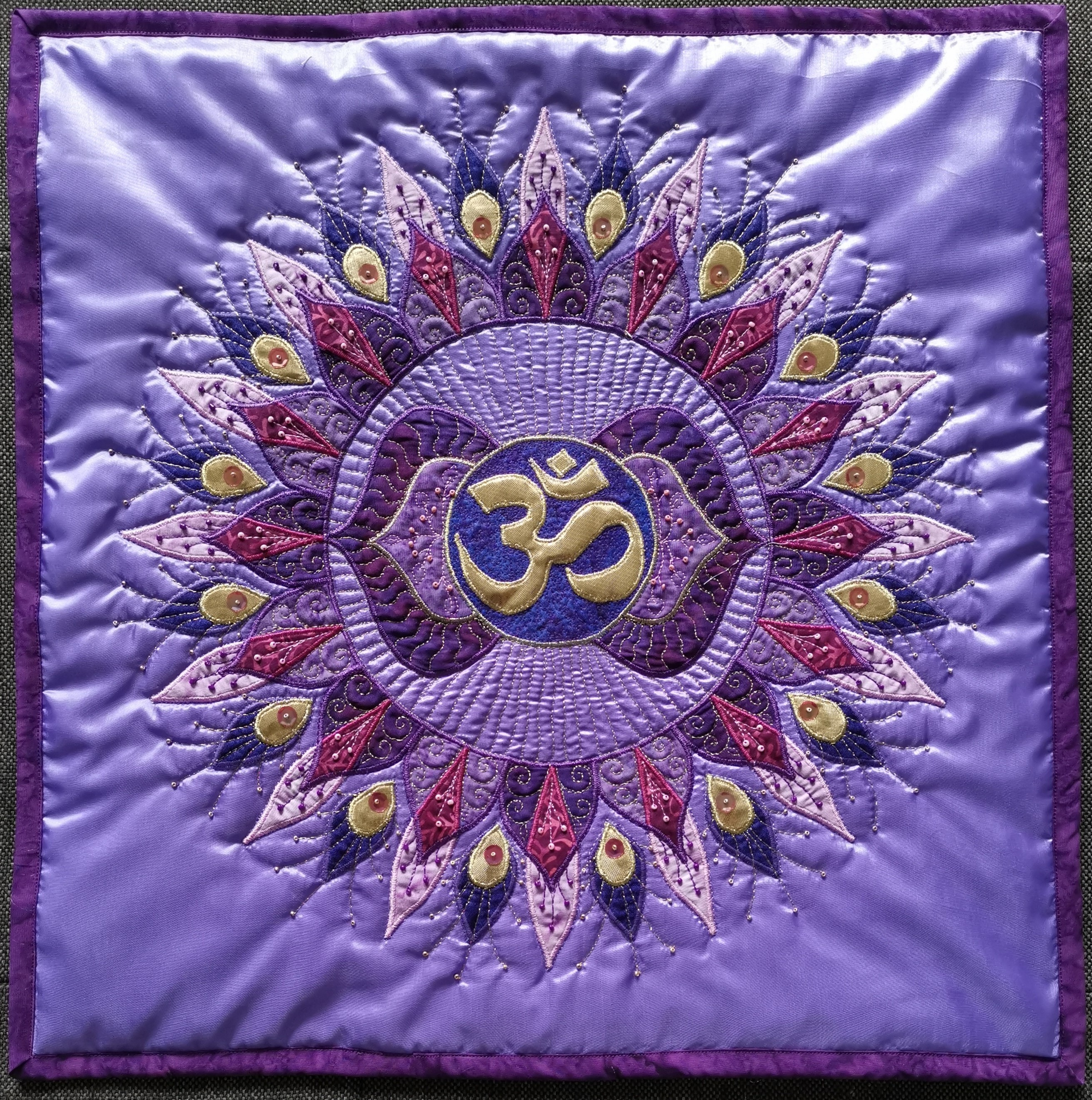 6th Third Eye Mandala Pillow