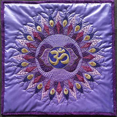 """6. Third Eye Chakra Mandala"" Pillow / DST-pattern w. interfacing"