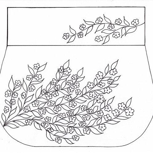 Blooming Tree Shoulder Bag / Simple Design