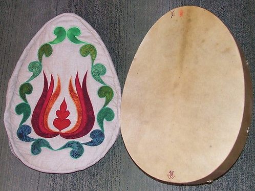 Shamanic Drum Bag with Tulip