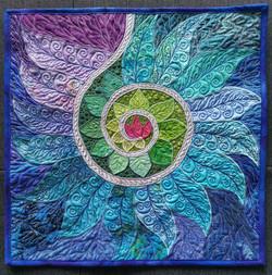 Spiral Path Mandala Pillow