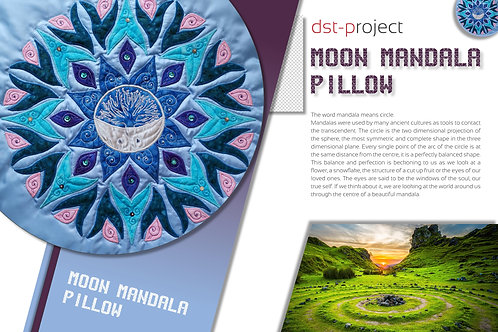 """Moon Mandala"" Pillow / DST-pattern"