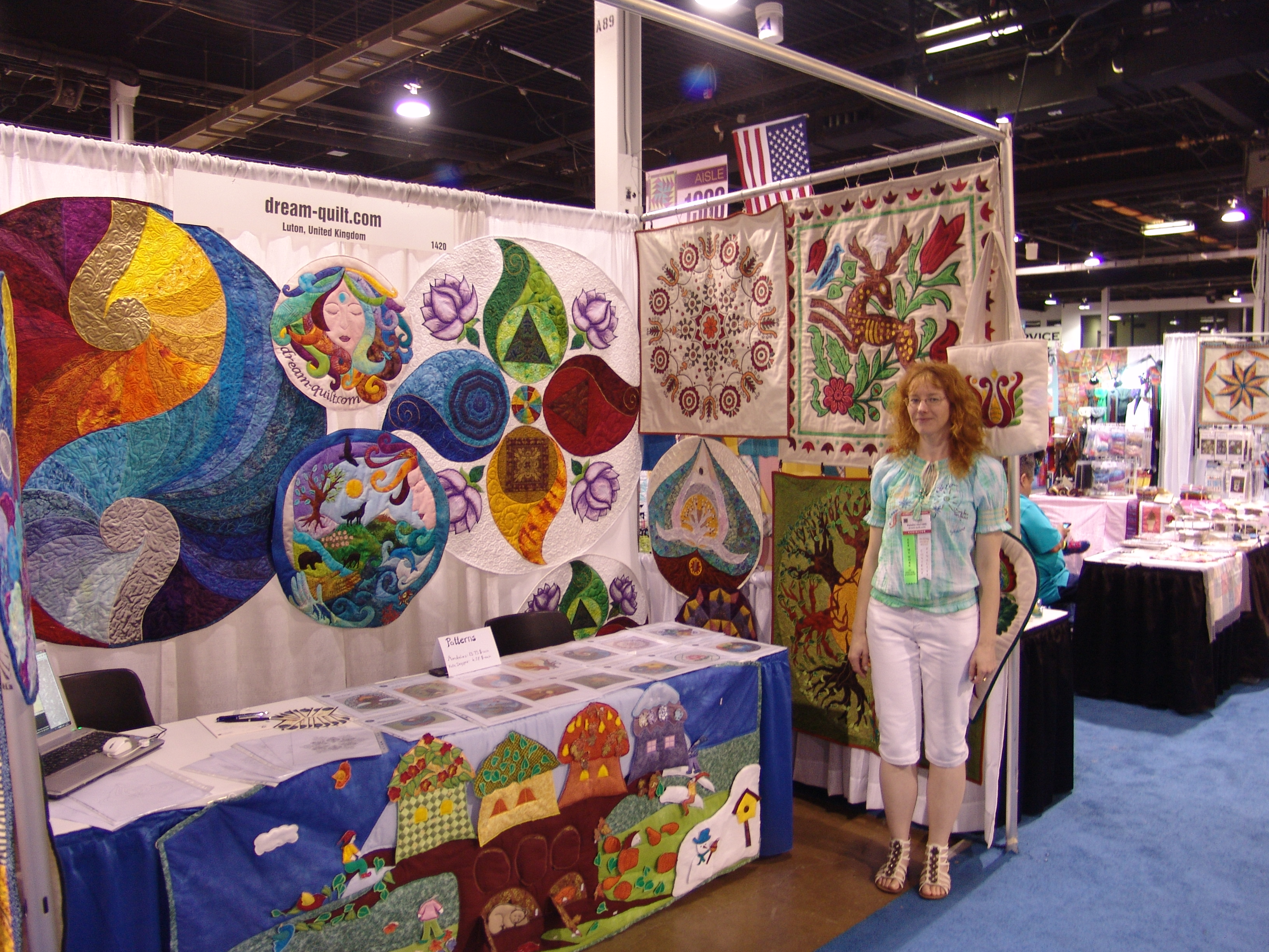 Booth in Chicago Quilt Show