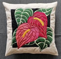 Flamingo Flower Pillow
