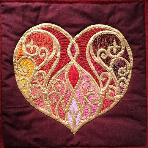 """Jewels Of The Heart"" Pillow / DST-Kit"