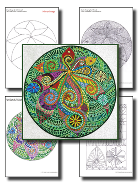 Mosaic Leaf Mandala / Simple Design