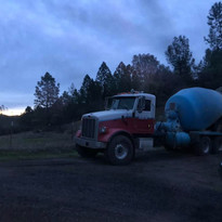 YAY! Concrete truck has arrived