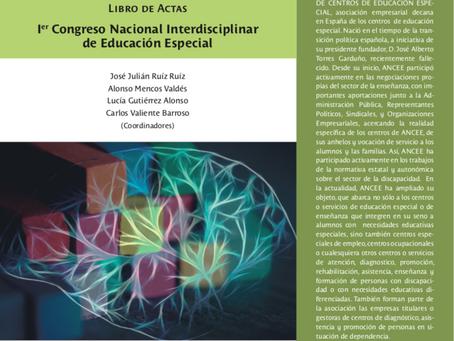 ICIIN PATROCINA EL LIBRO DE ACTAS DEL I CONGRESO NACIONAL  INTERDISCIPLINAR DE EDUCACIÓN ESPECIAL