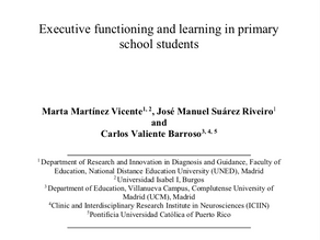 Artículo científico: Funcionalidad ejecutiva y aprendizaje en alumnado de primaria