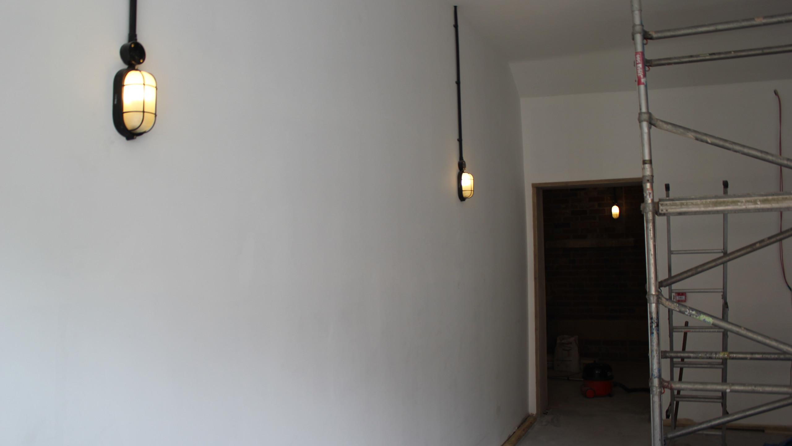Upstairs lighting.