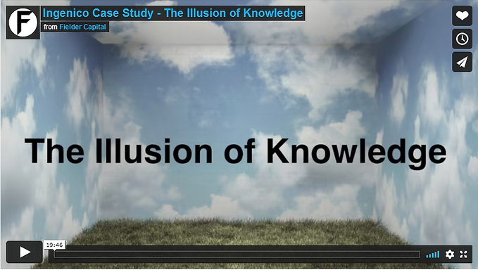 The Illusion of Knowledge
