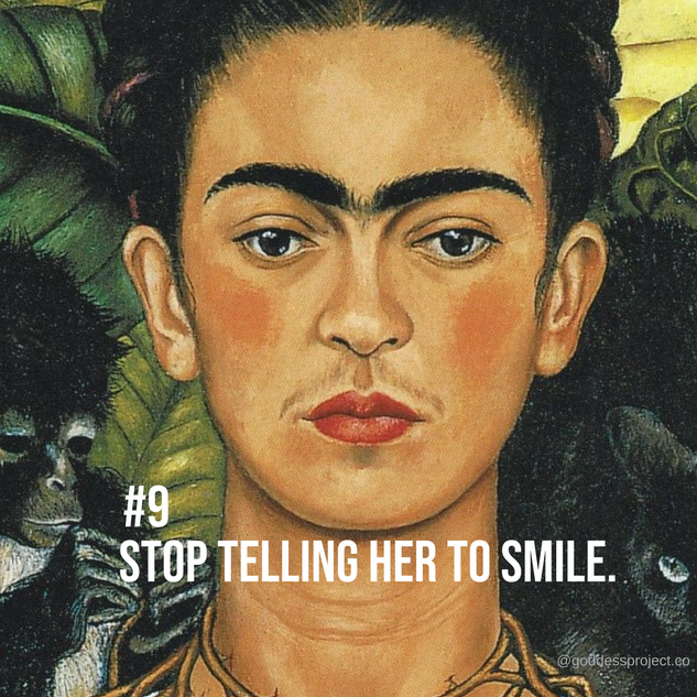 Stop asking her to smile.