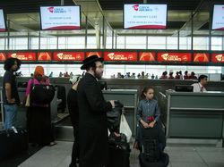 Waiting, Newark airport