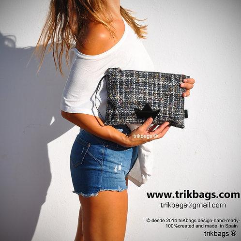 trik_22 Tweed on black Mini Estuche Mx