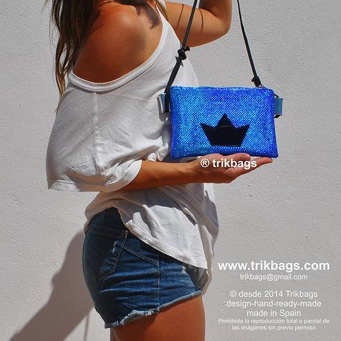 trik_14 Camaleón Tornasolado Blue opal Mini Bolsito
