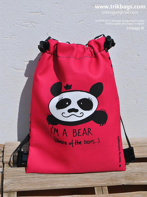 trik_35 Be Bear pink S (Mochila infantil)