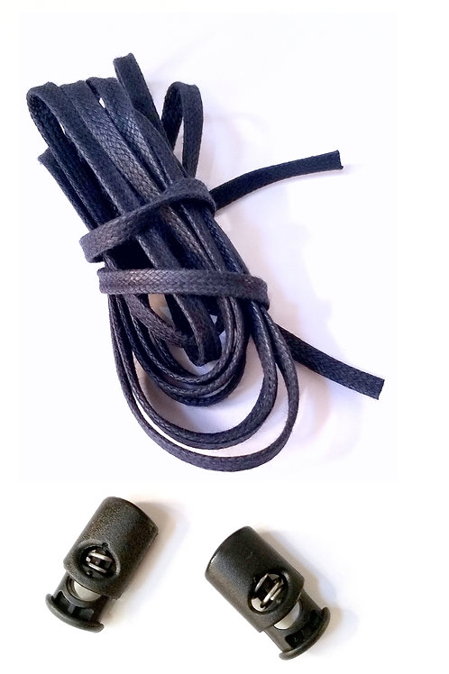 Pack 2 Cordoneras (azul marino) + 2 corlock negro
