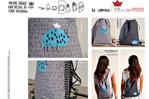 trik_18 Ilustradas Ladybug grey&blue