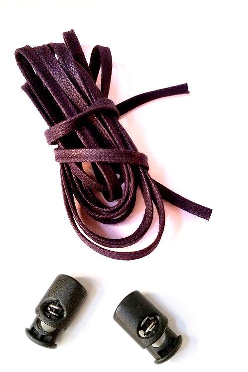 Pack 2 Cordoneras (marrón) + 2 corlock