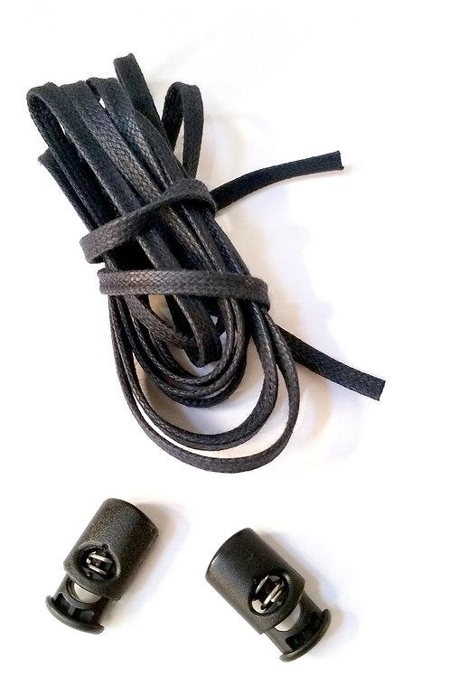 Pack 2 Cordoneras (negro) + 2 corlock