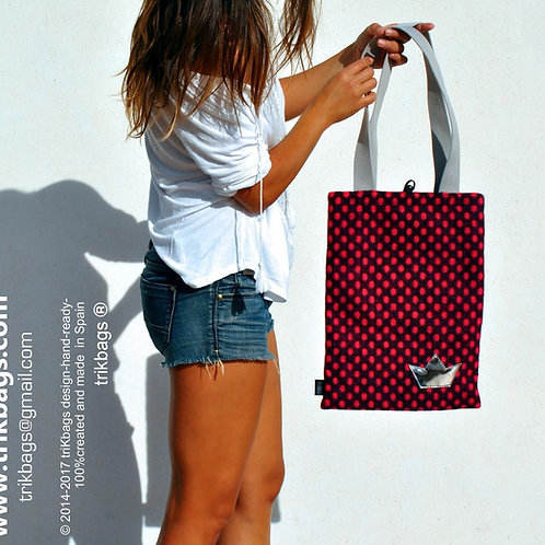 trik_34 Dots Fieltro Rosa MS Bolso simple