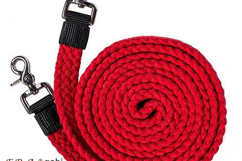 rênes coton rouge 300cm/25mm