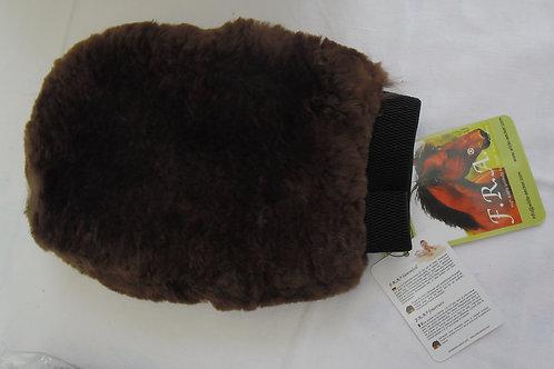 F.R.A. gant de pansage fourrure mocca