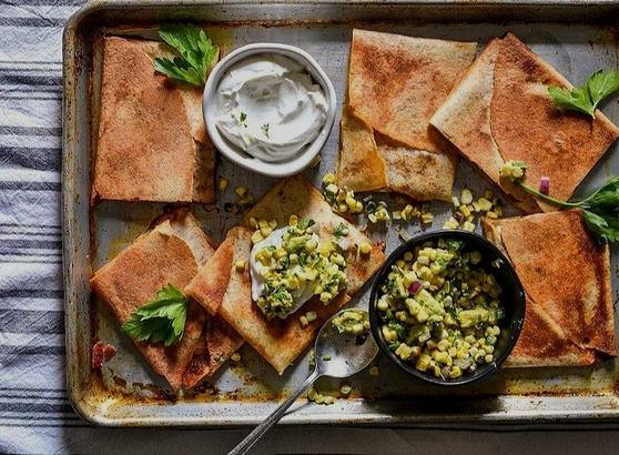Baked Sheet Pan Quesadilla