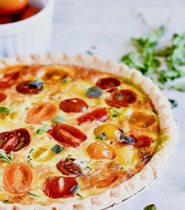 Tomato and Zucchini Quiche