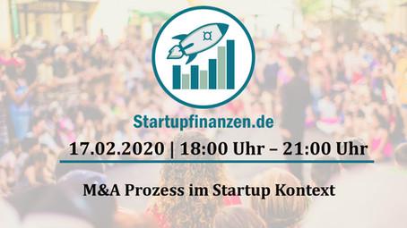 """- Workshop - """"M&A Prozess im Start-up Kontext"""" am 17.02.2020 von 18:00 Uhr - 21:00 Uhr"""