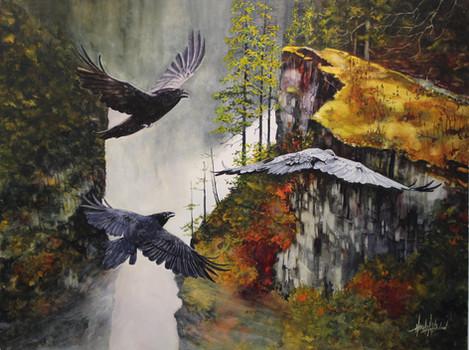 Ravens Over Elk Falls