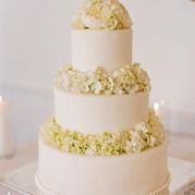 white flower cake
