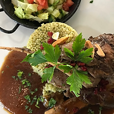 lamb shanks with freekeh