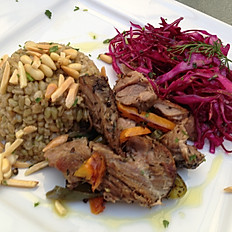 Lamb roast with Freekeh