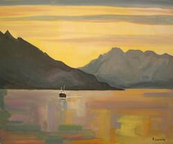 Express côtier croisant les Lofoten