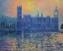 Soir sur le Parlement de Londres