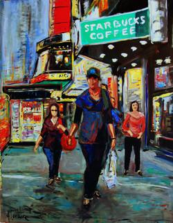 Walking and shopping