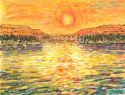 Soleil couchant Thèbes