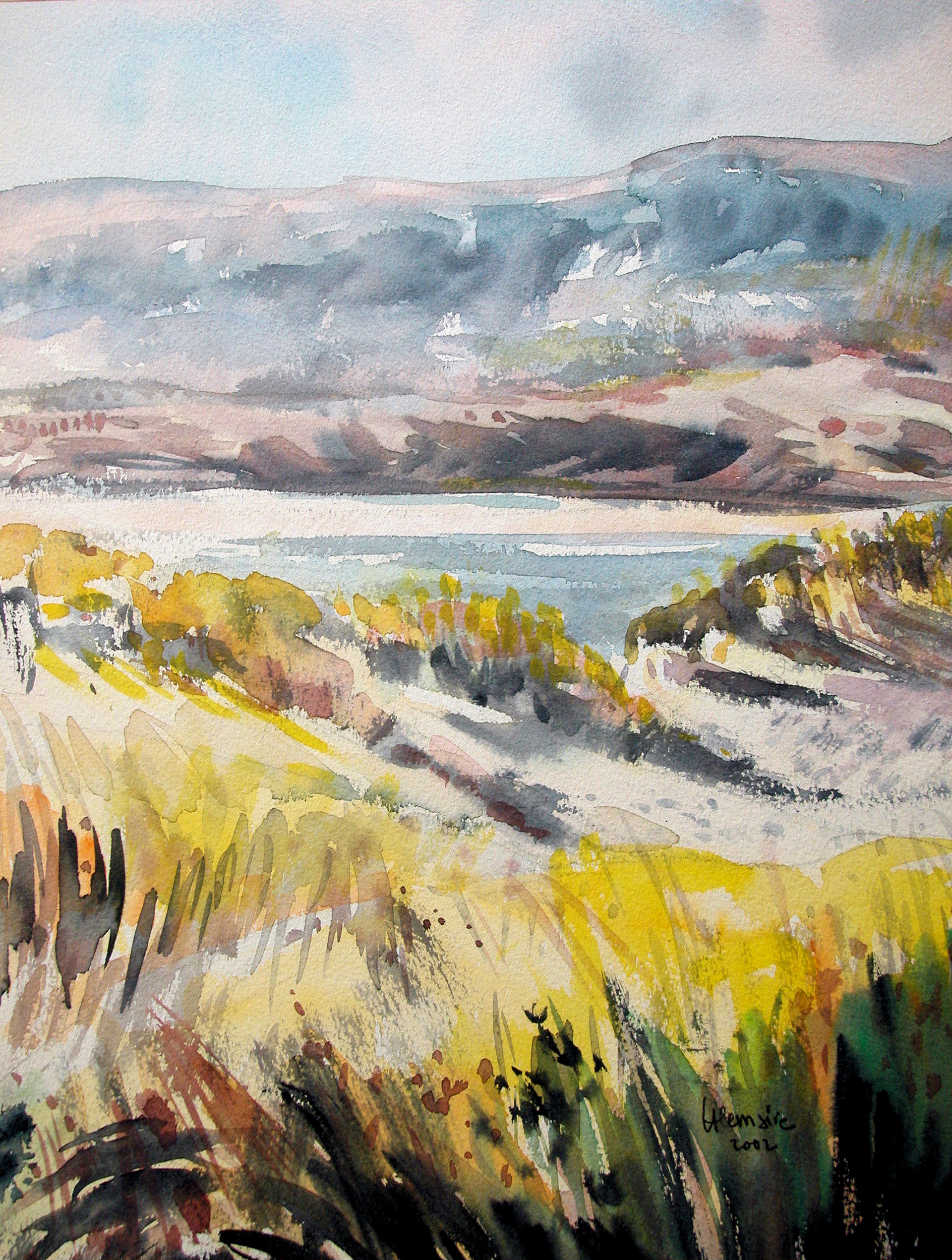 La Canche entre les dunes au Touquet