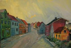 Une rue à Tromsö, Norvège