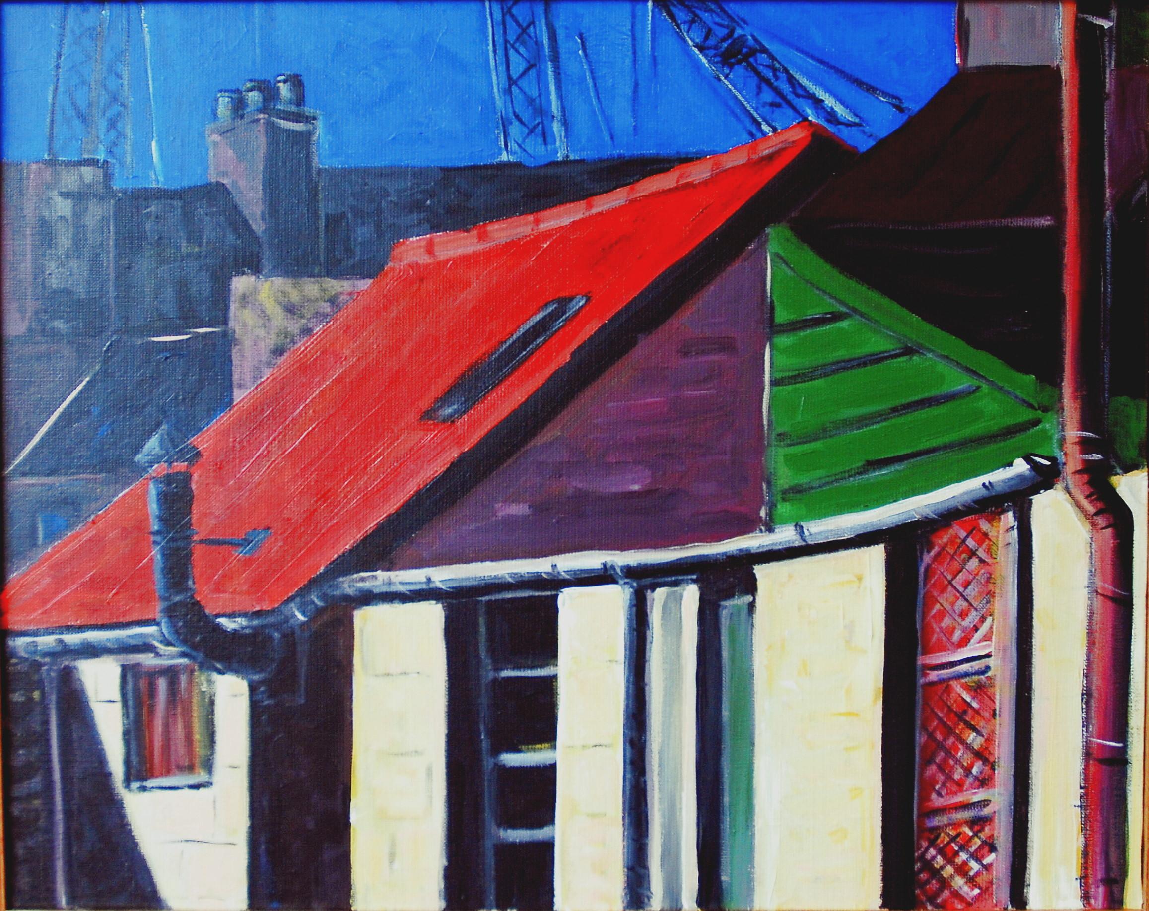 Le toit rouge à Aberdeen