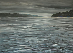 Le Loch Ness par temps nuageux